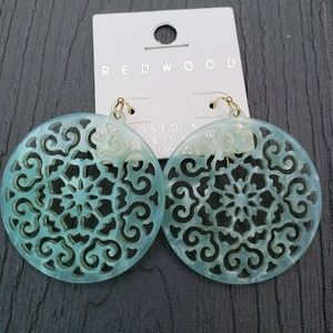 Jewelry - Redwood Mint Acetate Earrings